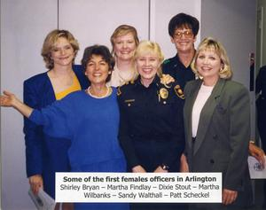 [APD's first female officers (20 years later) in 1997]