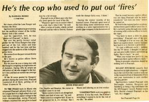 [Arlington Police Officer Steve Foucault's story from the Arlington Citizen Journal, 1980]