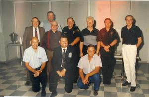 Primary view of object titled '[APD retirees with Arlington Police Chief David Kunkle, 1992]'.