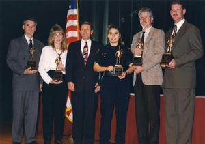 Primary view of object titled '[Arlington Police Department award ceremony recipients, ca. 1990s]'.