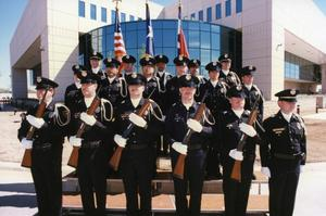 Primary view of object titled '[APD Honor Guard, ca. 1992]'.