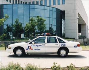 Primary view of object titled '[APD. New 1993 Arlington police cruiser]'.