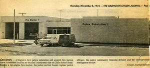 [Arlington Police Substation 1 described in the Arlington Citizen Journal, 1973, 2nd view]