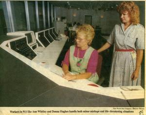 [APD Communication Center, newspaper clipping 1989]