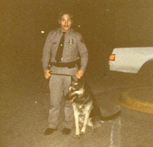 Primary view of object titled '[Arlington Canine Officer Joe Oakley with Rogue]'.