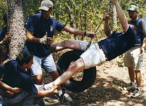 Primary view of object titled '[APD training. Ropes Course training]'.