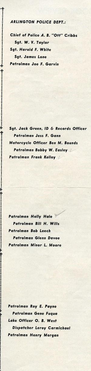 Primary view of object titled '[APD police officers from the Texas Lawman Magazine, 1960, part 1, page 2]'.