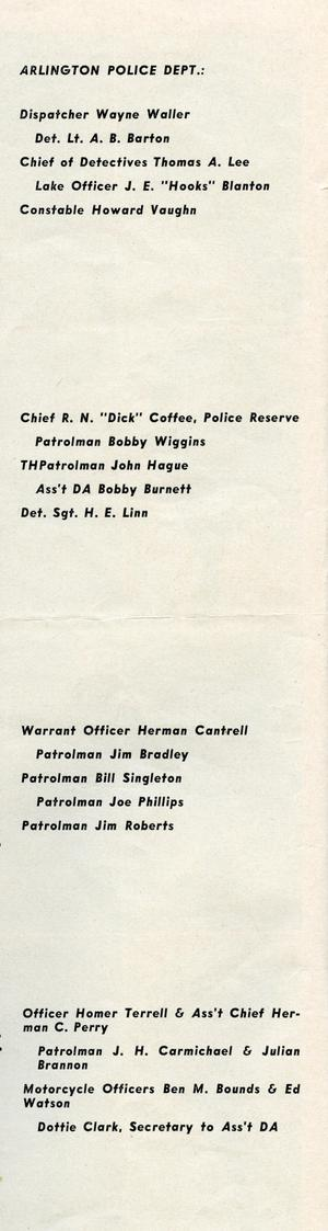 [APD police officers from the Texas Lawman Magazine, 1960, part 2, page 2]