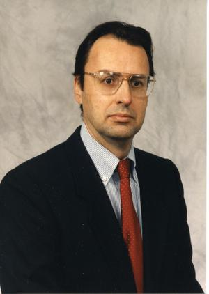 Primary view of object titled '[APD's first legal advisor, Robert Diaz, portrait ca. 1995]'.