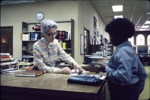 [Marshall Public Library's Circulation Desk]
