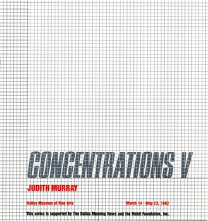 Concentrations V:  Judith Murray