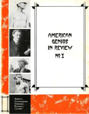 Primary view of object titled 'American Genius in Review No. I'.