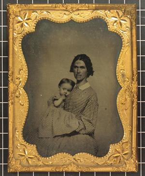 Primary view of object titled '[Portrait of Mrs. VanUxen and Daughter]'.