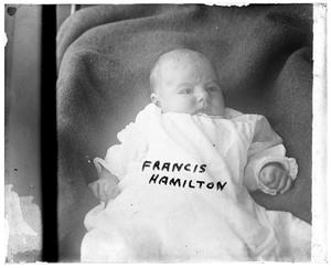 Primary view of object titled '[Portrait of Baby Francis Hamilton]'.