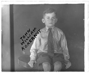Primary view of object titled '[Young John William Kokernot]'.