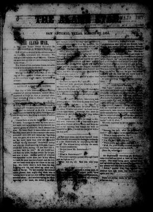 The Alamo Star (San Antonio, Tex.), Vol. 1, No. 1, Ed. 1 Saturday, March 25, 1854