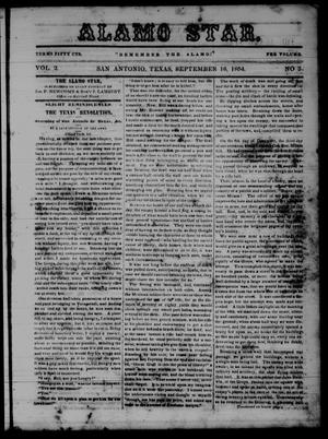 The Alamo Star (San Antonio, Tex.), Vol. 2, No. 3, Ed. 1 Saturday, September 16, 1854