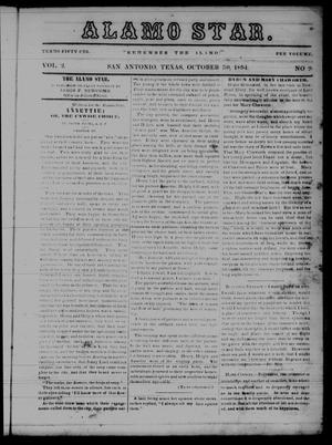The Alamo Star (San Antonio, Tex.), Vol. 2, No. 9, Ed. 1 Monday, October 30, 1854