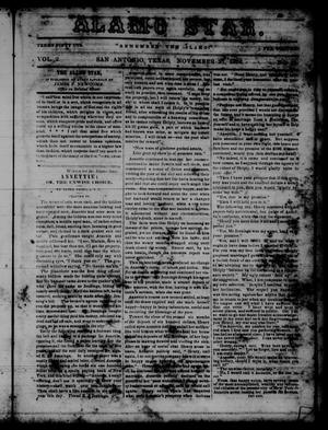 Primary view of object titled 'The Alamo Star (San Antonio, Tex.), Vol. 2, No. 13, Ed. 1 Monday, November 27, 1854'.