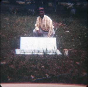 Primary view of object titled '[Working a Cemetery in Harrison County]'.