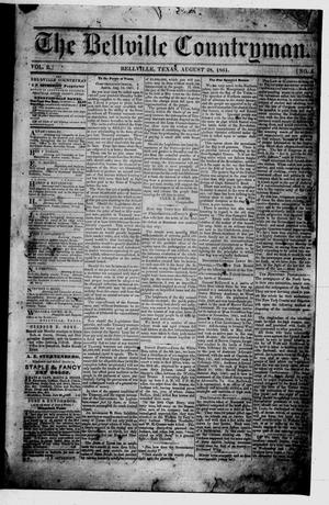 Primary view of The Bellville Countryman (Bellville, Tex.), Vol. 2, No. 5, Ed. 1 Wednesday, August 28, 1861