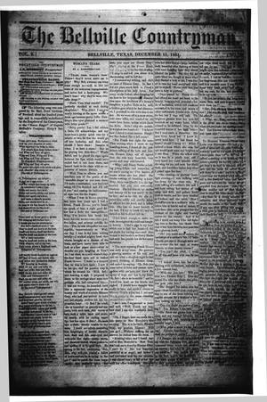 Primary view of object titled 'The Bellville Countryman (Bellville, Tex.), Vol. 2, No. 20, Ed. 1 Wednesday, December 11, 1861'.