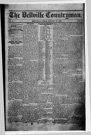 Primary view of object titled 'The Bellville Countryman (Bellville, Tex.), Vol. 2, No. 25, Ed. 1 Saturday, January 25, 1862'.