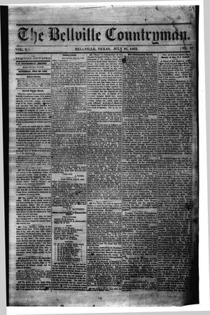 The Bellville Countryman (Bellville, Tex.), Vol. 2, No. 50, Ed. 1 Saturday, July 26, 1862