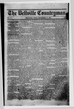 Primary view of object titled 'The Bellville Countryman (Bellville, Tex.), Vol. 3, No. 7, Ed. 1 Saturday, September 13, 1862'.