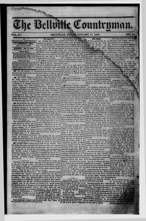 Primary view of object titled 'The Bellville Countryman (Bellville, Tex.), Vol. 3, No. 24, Ed. 1 Saturday, January 17, 1863'.