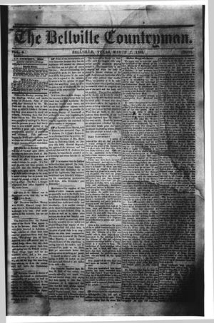 Primary view of object titled 'The Bellville Countryman (Bellville, Tex.), Vol. 3, No. 31, Ed. 1 Saturday, March 7, 1863'.