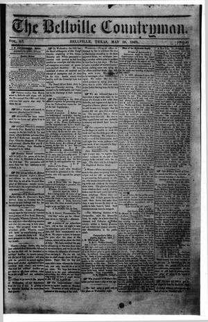 Primary view of object titled 'The Bellville Countryman (Bellville, Tex.), Vol. 3, No. 41, Ed. 1 Saturday, May 16, 1863'.