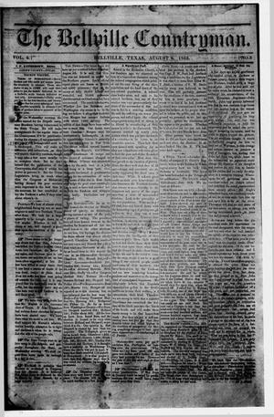 Primary view of object titled 'The Bellville Countryman (Bellville, Tex.), Vol. 4, No. 3, Ed. 1 Saturday, August 8, 1863'.
