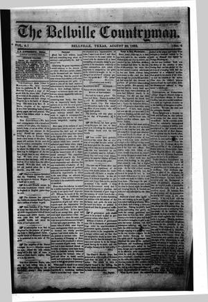 The Bellville Countryman (Bellville, Tex.), Vol. 4, No. 6, Ed. 1 Saturday, August 29, 1863