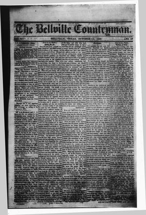 Primary view of The Bellville Countryman (Bellville, Tex.), Vol. 4, No. 13, Ed. 1 Saturday, October 17, 1863