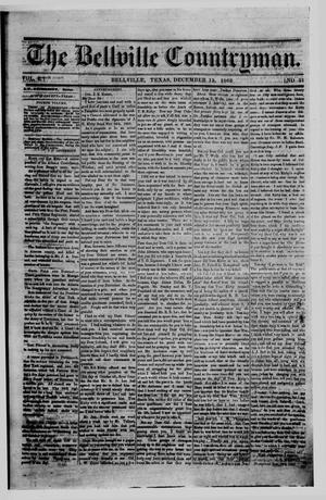 Primary view of object titled 'The Bellville Countryman (Bellville, Tex.), Vol. 4, No. 21, Ed. 1 Saturday, December 12, 1863'.