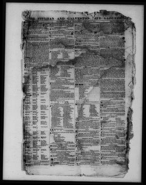 Primary view of object titled 'The Civilian and Galveston City Gazette. (Galveston, Tex.), Ed. 1 Wednesday, January 11, 1843'.