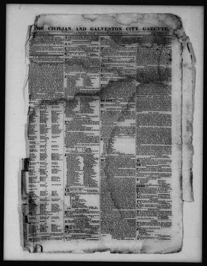 Primary view of object titled 'The Civilian and Galveston City Gazette. (Galveston, Tex.), Ed. 1 Saturday, January 28, 1843'.