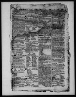 Primary view of object titled 'The Civilian and Galveston City Gazette. (Galveston, Tex.), Ed. 1 Wednesday, February 1, 1843'.
