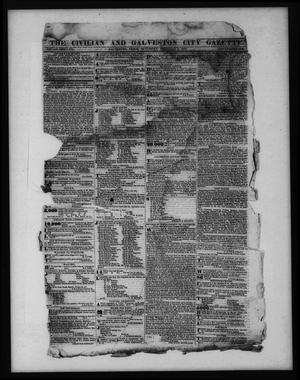 Primary view of object titled 'The Civilian and Galveston City Gazette. (Galveston, Tex.), Ed. 1 Saturday, February 4, 1843'.