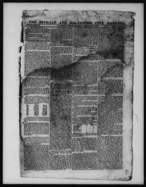 Primary view of object titled 'The Civilian and Galveston City Gazette. (Galveston, Tex.), Ed. 1 Saturday, February 11, 1843'.