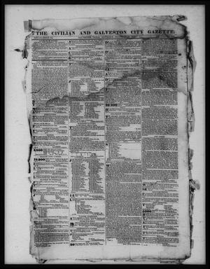 Primary view of object titled 'The Civilian and Galveston City Gazette. (Galveston, Tex.), Ed. 1 Saturday, February 18, 1843'.