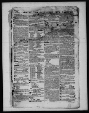 Primary view of object titled 'The Civilian and Galveston City Gazette. (Galveston, Tex.), Ed. 1 Wednesday, February 22, 1843'.