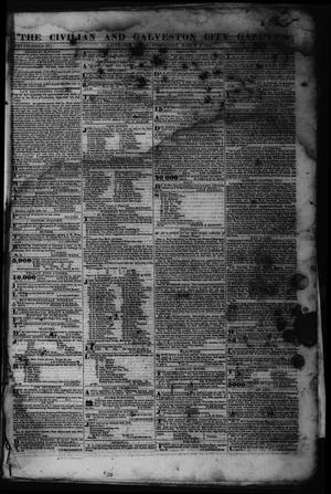 Primary view of object titled 'The Civilian and Galveston City Gazette. (Galveston, Tex.), Ed. 1 Wednesday, March 8, 1843'.