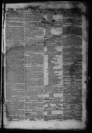 Primary view of object titled 'The Civilian and Galveston City Gazette. (Galveston, Tex.), Ed. 1 Saturday, March 18, 1843'.
