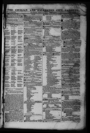 Primary view of object titled 'The Civilian and Galveston City Gazette. (Galveston, Tex.), Ed. 1 Saturday, April 8, 1843'.