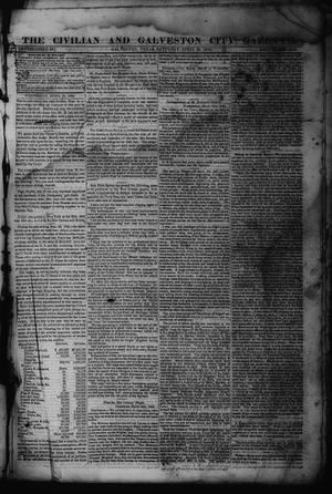 Primary view of object titled 'The Civilian and Galveston City Gazette. (Galveston, Tex.), Ed. 1 Saturday, April 22, 1843'.