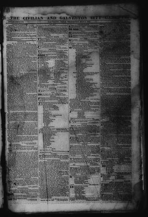 Primary view of object titled 'The Civilian and Galveston City Gazette. (Galveston, Tex.), Ed. 1 Wednesday, May 3, 1843'.