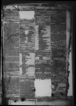 Primary view of object titled 'The Civilian and Galveston City Gazette. (Galveston, Tex.), Ed. 1 Wednesday, May 10, 1843'.