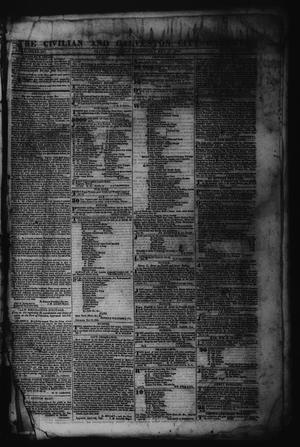 Primary view of The Civilian and Galveston City Gazette. (Galveston, Tex.), Ed. 1 Wednesday, May 17, 1843